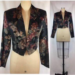 Vintage 90s Floral Blazer Fredericks of Hollywood